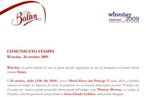 Balan - wineday 2009